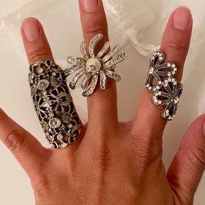 Three Silver Ring Bundle